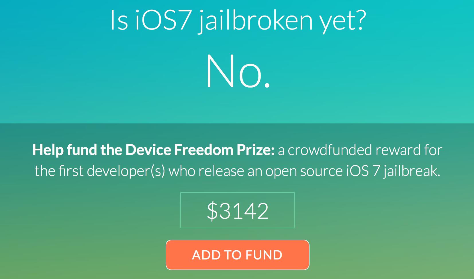 New Campaign Seeks Help To Fund An iOS 7 Jailbreak Reward