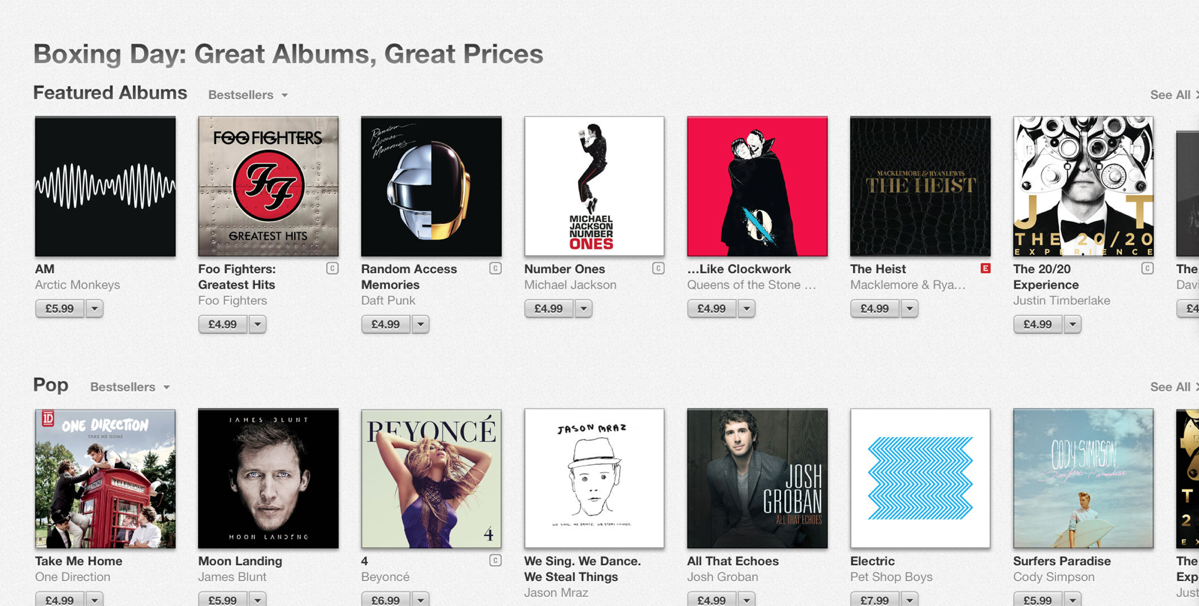 Apple Launches Boxing Day Sale In Select International iTunes Stores
