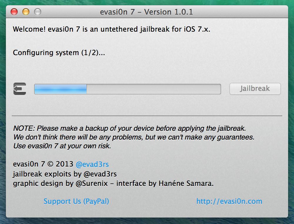 Evad3rs Bring Evasi0n 1.0.1 Update To All Users With Evasi0n 7.x Untether Package