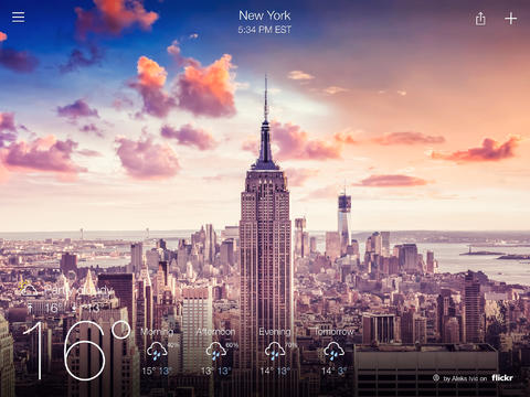 Yahoo Weather Goes Universal: Flickr-Enhanced Forecasts Now Optimized For iPad