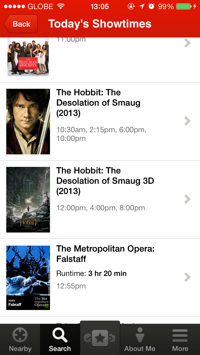 Yelp For iOS Updated With Fandango Integration For In-App Movie Ticket Purchasing