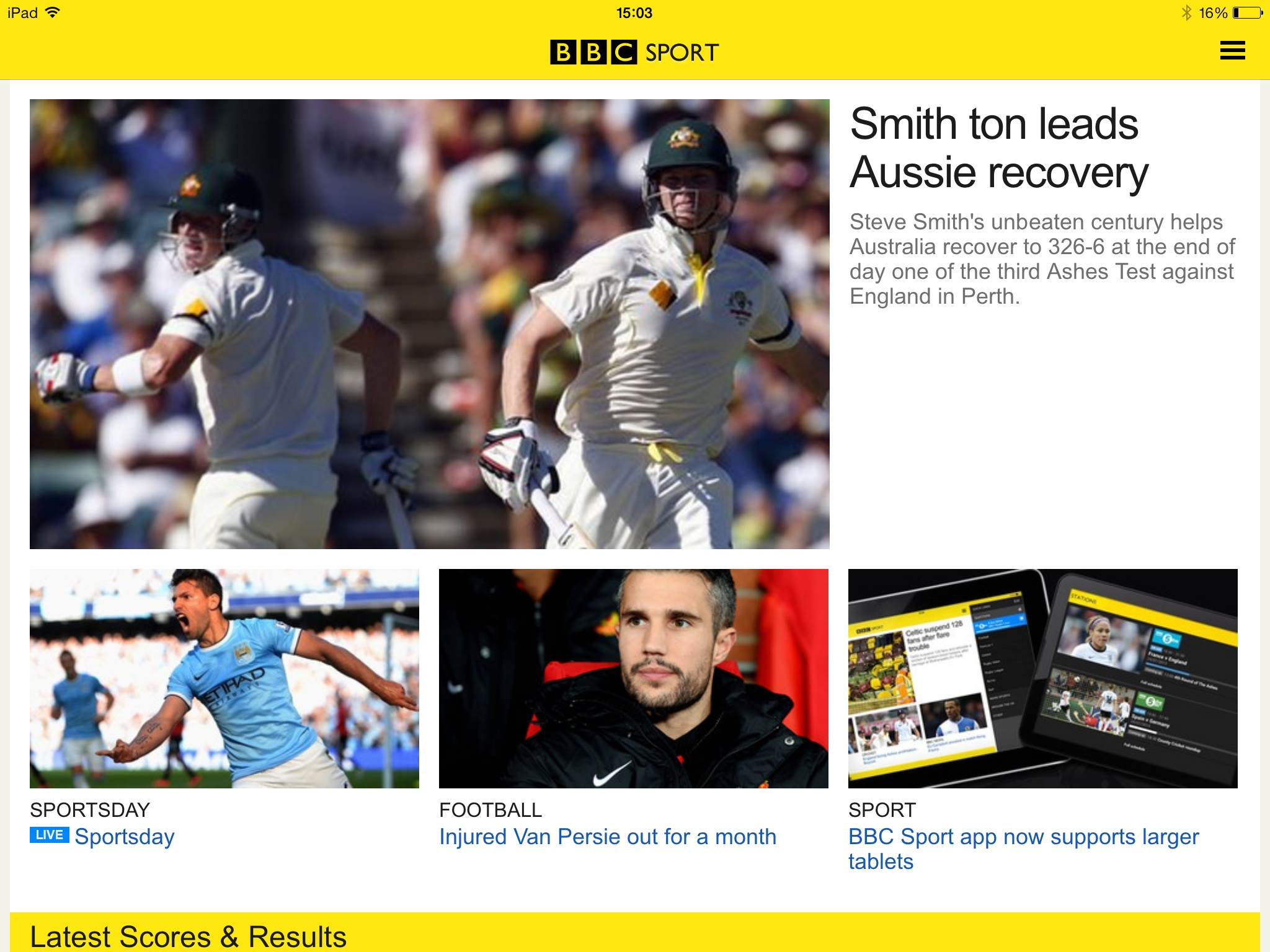 British Sports Fans Can Now Use The BBC Sport App On An iPad