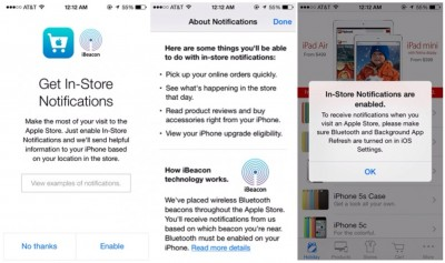 Apple Launches iBeacon In Retail Stores, Updates The Apple Store iOS App