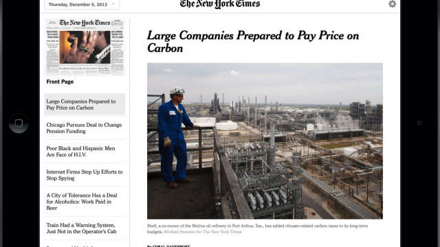 The New York Times Introduces A New Today's Paper Web Application