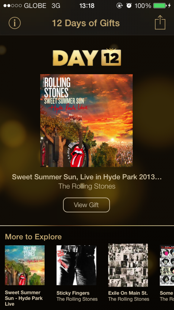 Day 12 Of Apple's 12 Days Of Gifts Features The Rolling Stones' Hyde Park Live Songs