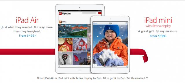 The iPad Air Was The Top Selling Apple Tablet During The Holiday Quarter