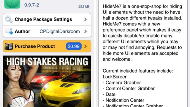 Cydia Tweak: Do You Like This But Not That In iOS 7? Then Put HideMe7 To Use