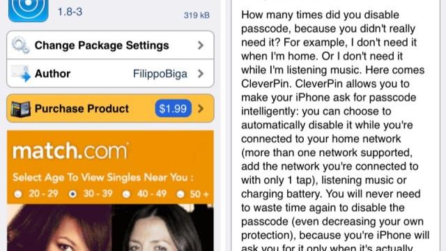 Cydia Tweak: CleverPin Update Brings Intelligent Lock System To iOS 7, iPhone 5s