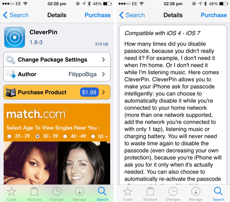 Cydia Tweak: CleverPin Update Brings Intelligent Lock System To iOS 7, iPhone 5s