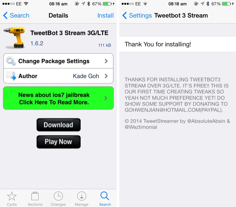 Cydia Tweak: How To Stream Your Tweetbot Twitter Timeline Over Cellular