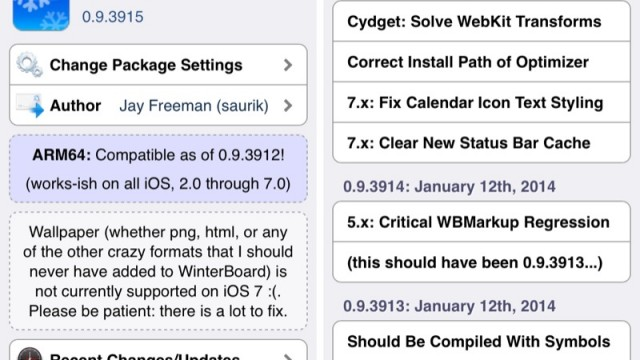 Cydia Tweak: Suffering Weird WinterBoard Status Bar Bugs? Then Update The App