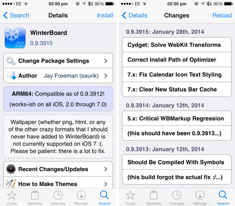 Cydia Tweak: Suffering Weird WinterBoard Status Bar Bugs? Then Update The App