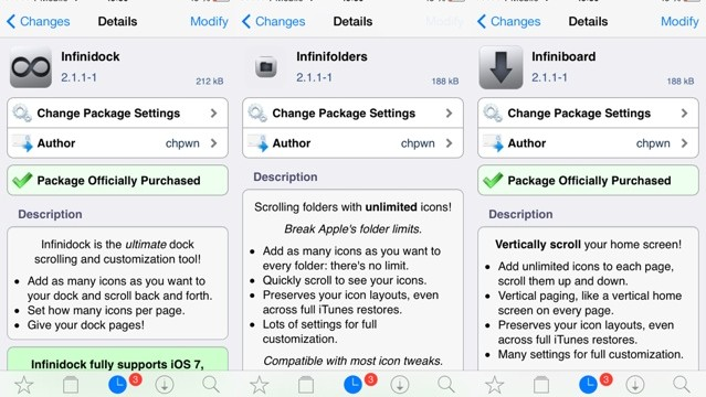 These Popular 'Infini' Jailbreak Tweaks Just Got Updated For iOS 7, ARM64