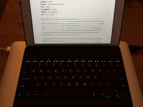 Review: Get The Most Out Of Your iPad With The ZAGGKeys Folio Keyboard Case