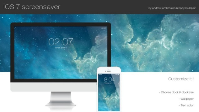 Add An iOS 7-Style Lock Screen To Your Mac Using This OS X Screensaver