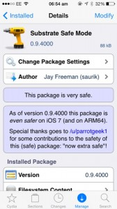 Cydia Gets Updated Substrate Safe Mode For iOS 7, ARM64-iDevices