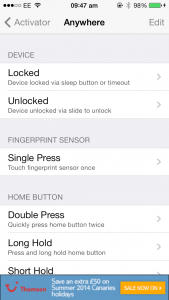 Jailbreakers Can Now Set Custom Touch ID Actions Using Activator For iOS