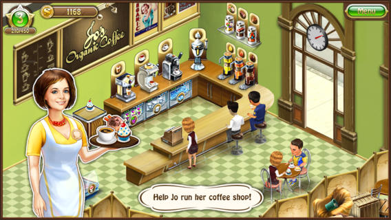 Be The Best Barista Of Them All In Jo's Dream: Coffee Shop For iOS