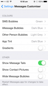 Cydia Tweak: Give Your Messages App A New Look With Messages Customiser