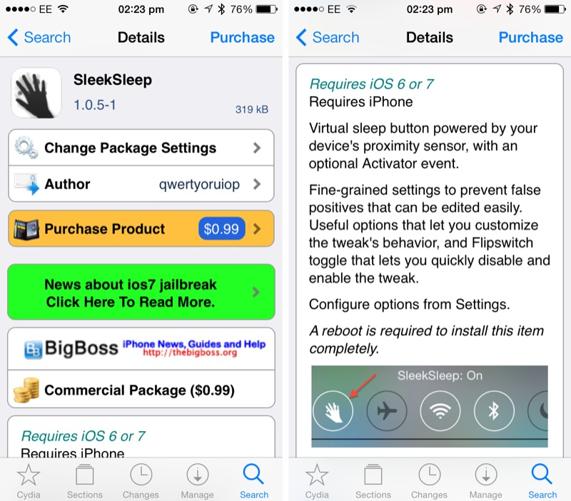 Cydia Tweak: Lock Your iPhone Using Its Proximity Sensor With SleekSleep