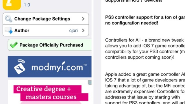Cydia Tweak: Turn Your PS3 DualShock Controller Into An iOS Gamepad
