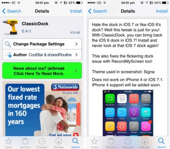 Cydia Tweak: Bring The Old iOS Dock Back To Your iDevice With ClassicDock