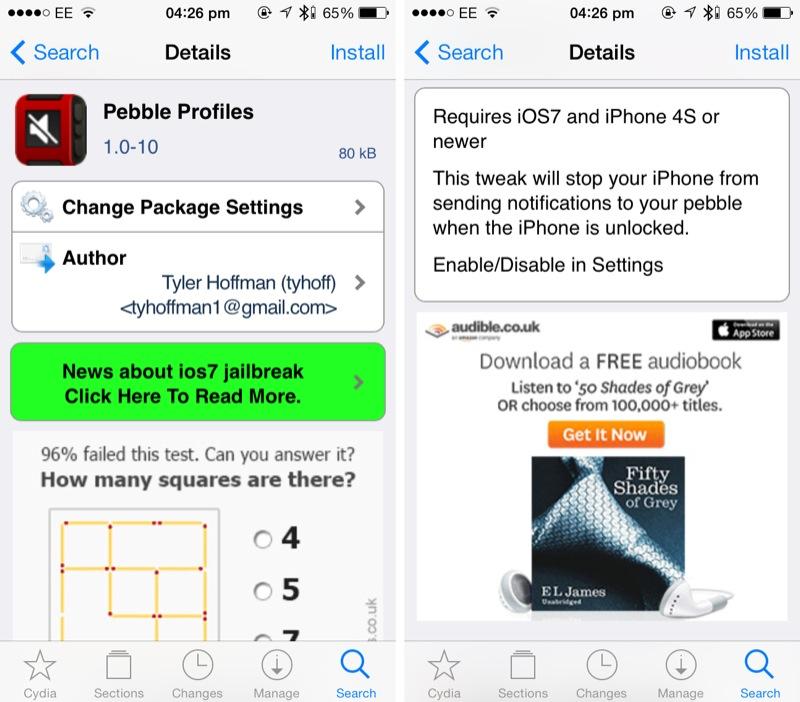 Cydia Tweak: Pebble Profiles Silences Notifications When Your iDevice Is Unlocked