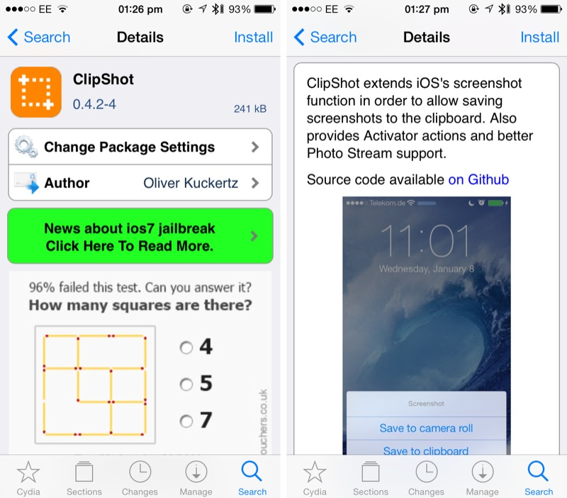 Cydia Tweak: ClipShot Brings Advanced Screenshot Management To iOS