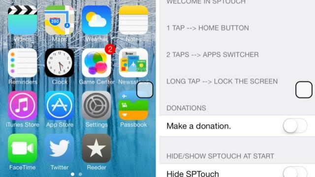 Cydia Tweak: Broken Home Button? Go Virtual With SPTouch