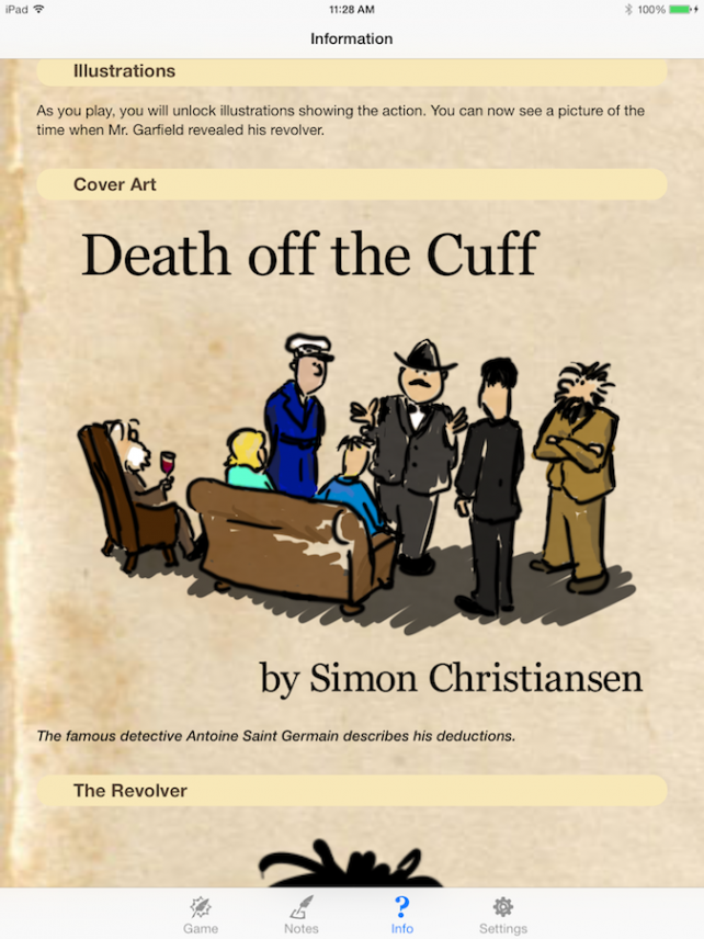 Quirky App Of The Day: Solve The Case In Death Off The Cuff