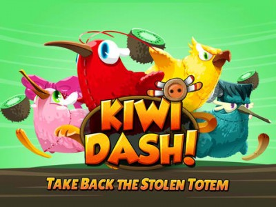 Play As Kiwi Birds And Collect Kiwi Fruits In New Endless Running Game Kiwi Dash