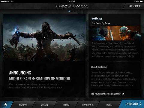 Gaze Into Palantir, The Wikia-Powered Middle-earth: Shadow Of Mordor Companion App