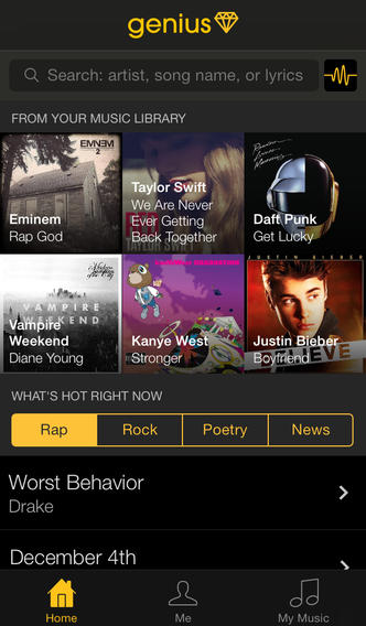 Popular Song Lyric Annotation Website Rap Genius Launches Official Genius iOS App