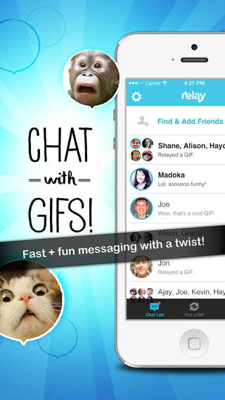 GIF Messaging App Relay Updated With iOS 7 Redesign And Unlimited Chat History