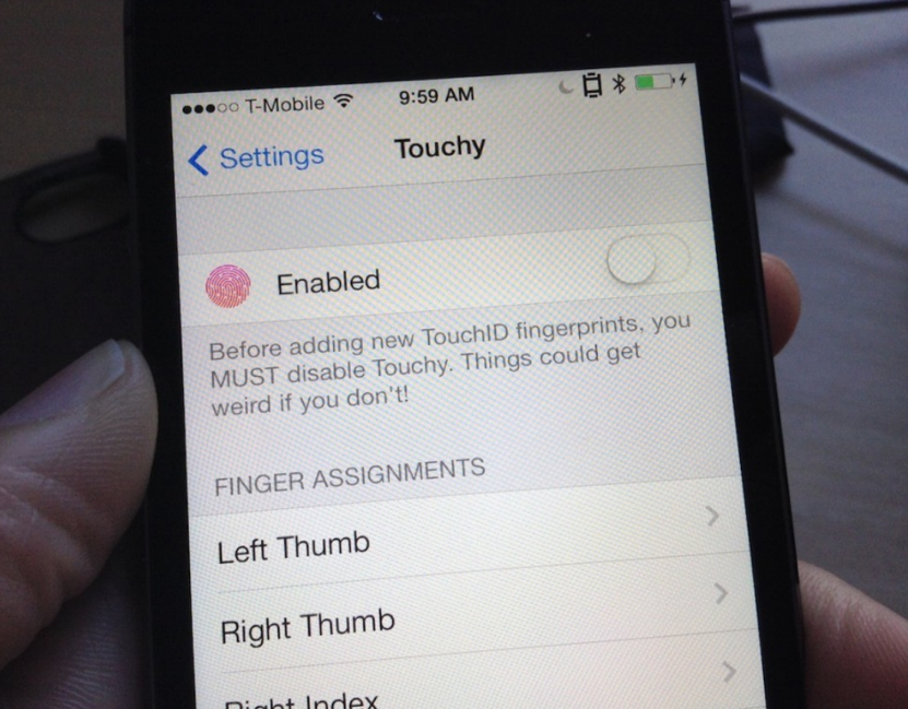 Touchy Is Another Impressive Touch ID Jailbreak Tweak That's In The Pipeline
