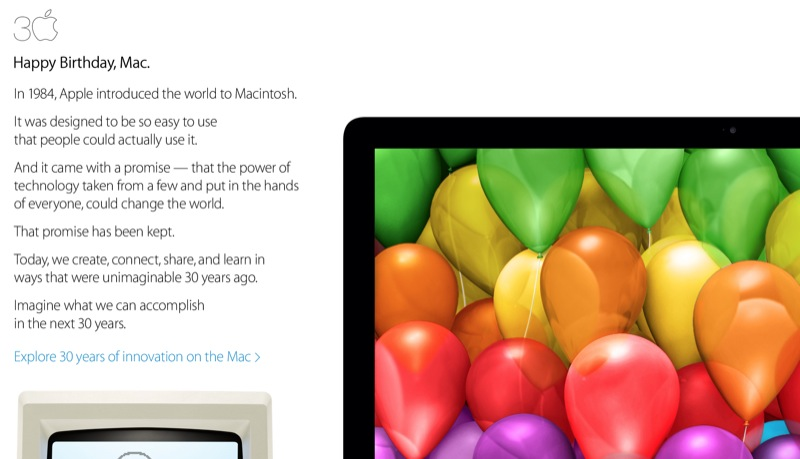 Happy Birthday, Mac: Apple Celebrates With 'Thirty Years Of Innovation' Video