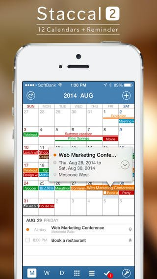 Staccal 2 Features Calendars, Reminders And More In 1 iOS 7-Optimized App