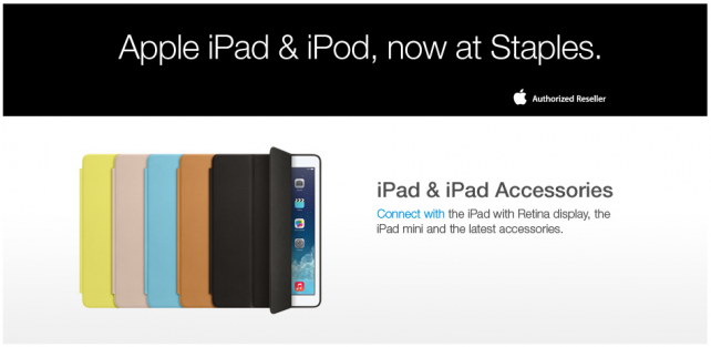 Staples Starts Selling Apple's iPad In Retail Stores After Online-Only Availability