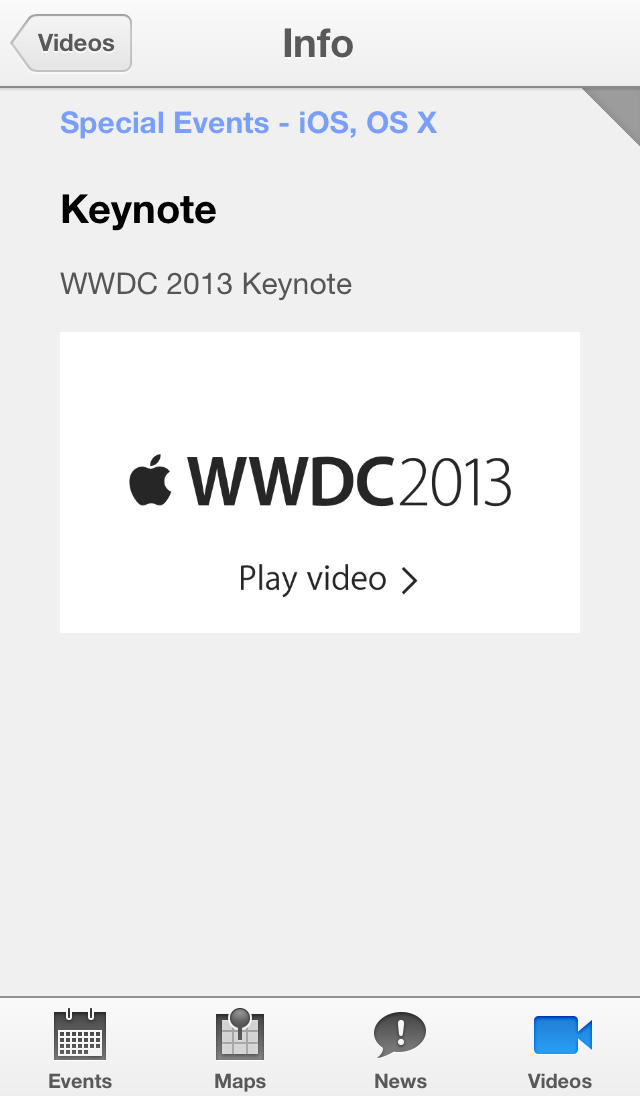 Apple Updates WWDC App With Fix For Video-Related Developer