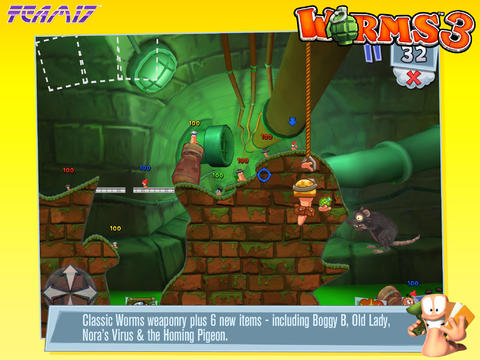 Bombs Away! Worms 3 Gains Cloud Saving, External Controller Support And More