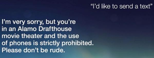 Alamo Drafthouse Recruits The Original Voice Of Siri To Film An Awesome PSA