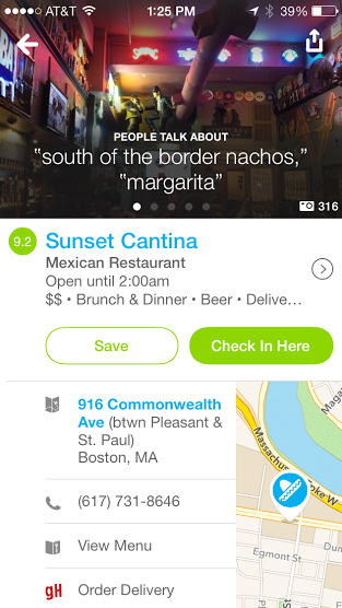 You Can Now Order Food From Local Restaurants With The Foursquare App