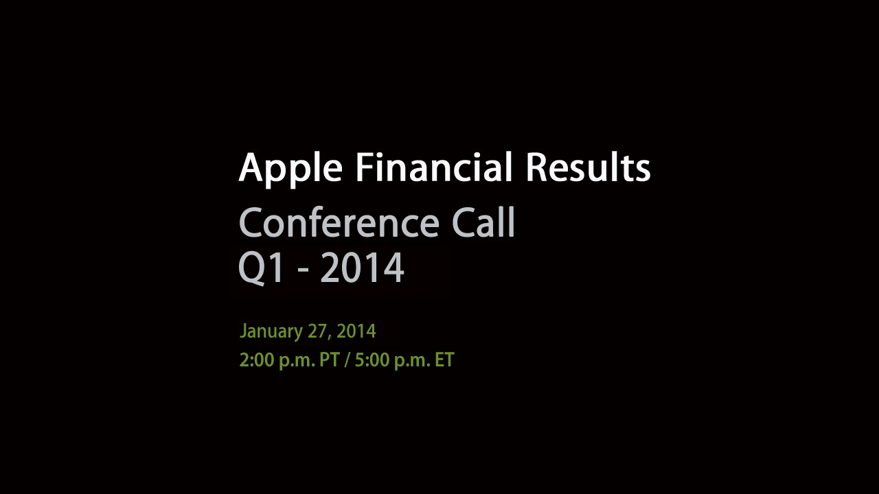 Numbers To Consider Ahead Of Apple's First Quarter FY2014 Earnings Call