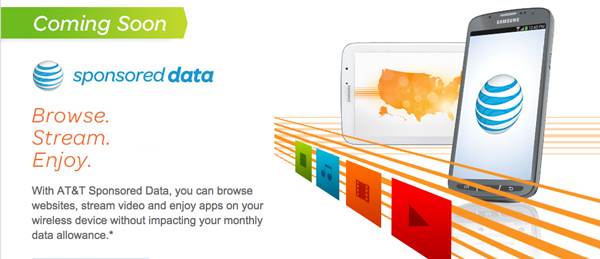 AT&T Announces A New Sponsored Data Program