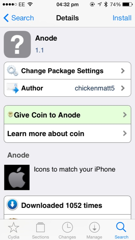 Cydia Tweak: Anode Is A New Theme That Can Match The Color Of Your iOS Device