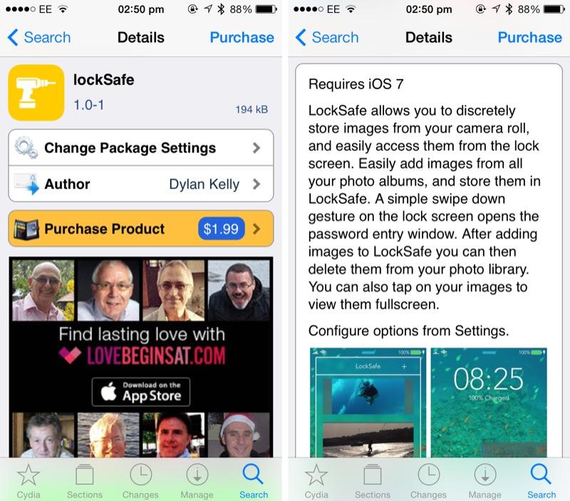 Cydia Tweak: LockSafe Adds A Private, Secure Photo Locker To Your Lock Screen