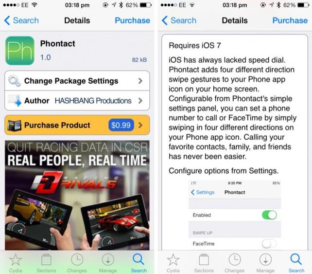 Cydia Tweak: Phontact Brings Swipe-Based Speed Dialing To