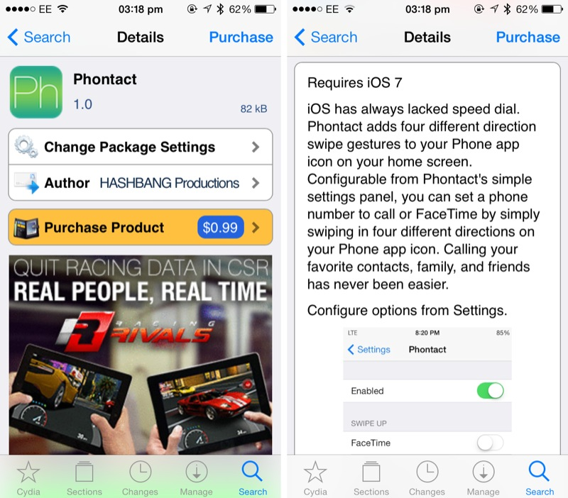 Cydia Tweak: Phontact Brings Swipe-Based Speed Dialing To Apple's iPhone
