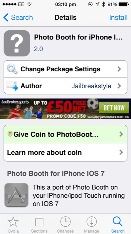 Cydia Tweak: Photo Booth For iPhone Launches Under iOS 7, But Don't Expect Much
