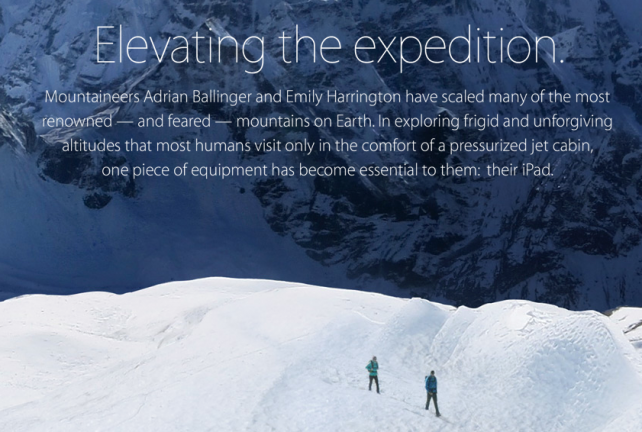 Apple's Newest 'Your Verse' Story Features Very Snowy, Mountainous Terrain